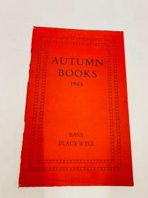 AUTUMN BOOKS 1963 英文书目