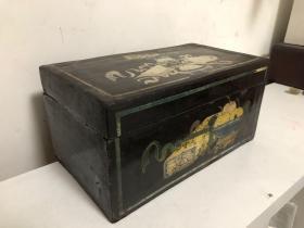 清代大漆描金彩绘聚瑞图书箱