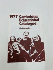1977 cambridge educationai cataiogue[1977年剑桥教育分类]