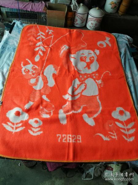 老式童毯,绒毯