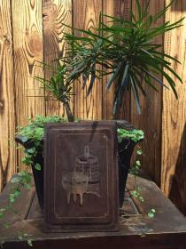 《特价》精品老木雕,清代花梨木镶嵌黄杨木金石青铜器花板