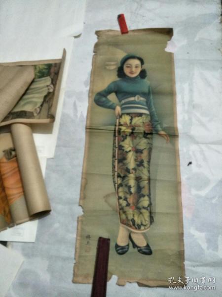杭穉英绘民国美女宣传画之六