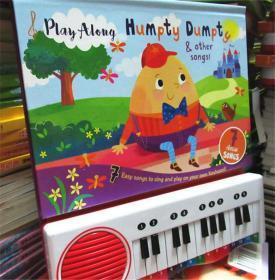 尾单正品 有声书 Humpty Dumpty And Other Songs Play Along 7 Classic Songs 儿童歌谣钢琴书  英语启蒙纸板发声书