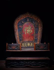 超大尺寸木胎漆器佛龛高72cm   长49cm   宽33cm1450