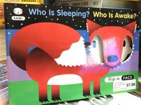 尾单纸板洞洞书 who is sleeping who is awake 谁在 3908 睡觉谁醒着