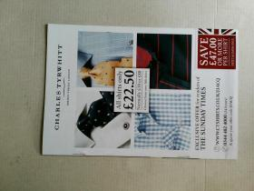 THE SUNDAY TIMES MAGAZINE Charles Tyrwhitt jermyn street london 星期日泰晤士报杂志 2015/09/06