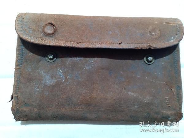 (箱19)民国  老 皮钱包,多层,15*10cm