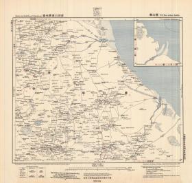 1907年《沧州、盐山县老地图》图题为《盐山县》(原图高清复制)图中包含沧州、盐山县等。请看图片,绘制详细,请看比例尺,请看大沽河流向。1907年德国陆军参谋处绘制,史料研究价值极高。原件现藏国外,原图高清复制。十分清晰。裱框后,风貌佳。沧州、盐山县地理地名历史变迁重要地图史料.