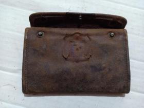 (箱19)民国  外文商标 皮钱包,多层,13.7*8.7cm