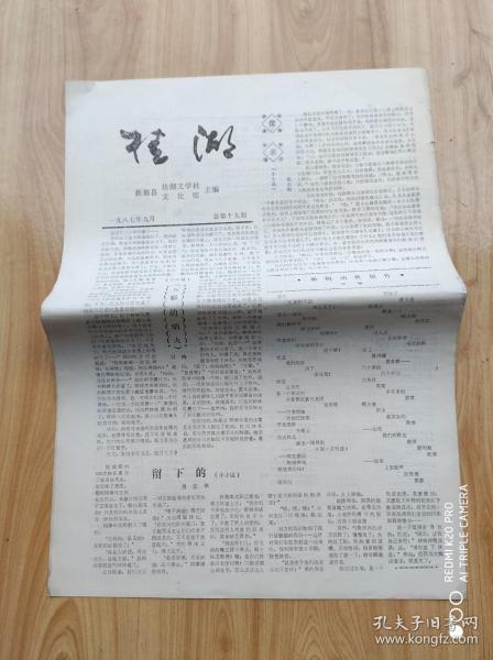 桂 湖   1987年9月  总第十九期