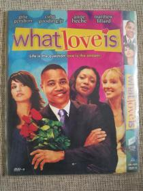 欧美电影《what love is》DVD.未拆封库存D9碟