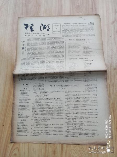 桂  湖   1984年3 ( 总十一期)