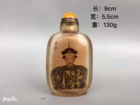 古玩收藏琉璃内画鼻烟壶手工送老外名家作品创意手工艺B