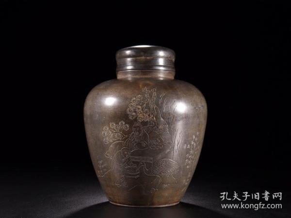 旧藏:御锡屋天下一美作守茶仓锡罐