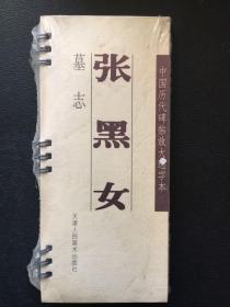 中国历代碑帖放大选字本 墓志 张黑女