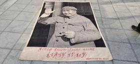 文革老丝织主席挂像、工艺精湛、品相完整、尺寸巨大、存世稀少、非常值得收藏。