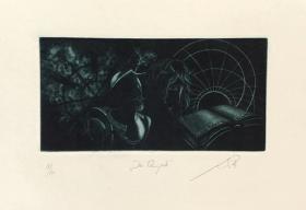 约翰•布莱克(Jan Černoš)藏书票版画原作《堂吉诃德》捷克