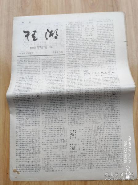 桂  湖   1987年5月  总第十八期