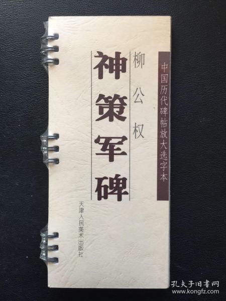 中国历代碑帖放大选字本 柳公权 神策军碑