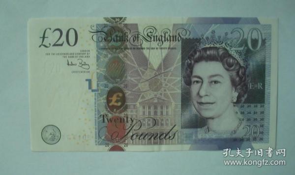 英镑二十面值一张