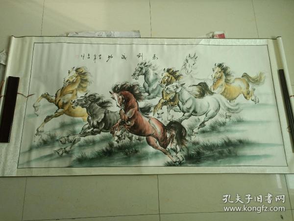《马到成功》 八骏图 国画 客厅装饰画