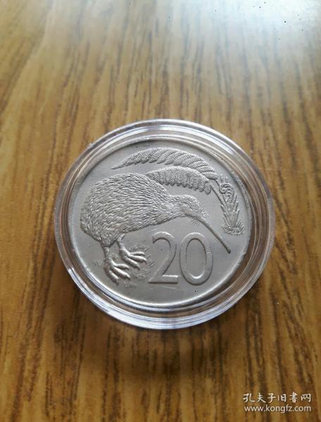 1975年 新西兰 短尾雉 20分 28mm