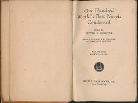 【精装毛边本《One Hundred Worlds Best Novels Condensed》(世界百佳小说选)】(Blue Ribbon Books1931年英文版)