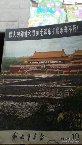 解放军画报 1976年10期 伟大领袖和导师毛泽东主席永垂不朽【不缺页】