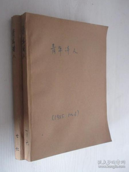 青年诗人  1985年1-6、7-12期    2本合订本  含创刊号