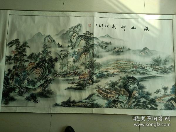 山水画 手绘画 中堂画 风景画 风水画