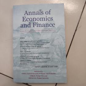 annals of economics and finance【volume 20,number 2,november 2019(lssn 1529-7373)】