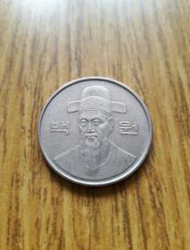 韩国100韩元 1986年 李舜臣像