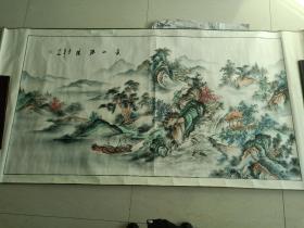 山水画 中堂画 国画 手绘挂画 装饰画