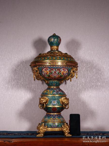 清代:乾隆款·景泰蓝龙凤纹熏香炉