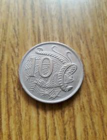 澳大利亚银白海洋动物币10分(1967年)