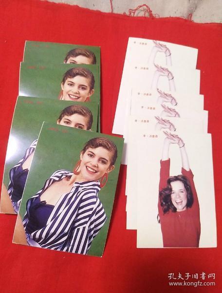 卡片,外国美女,两种共十张合售,以图片为准