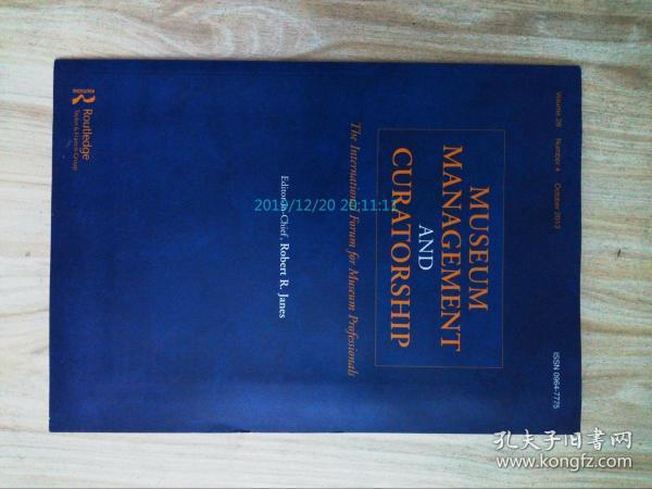 Museum management and curatorship (journal) 10/2013 博物馆