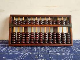 上海顺风牌算盘,黄花梨边框,搭配楠木算盘珠,品相一流,包浆圆润,包老保真!收藏价值高!