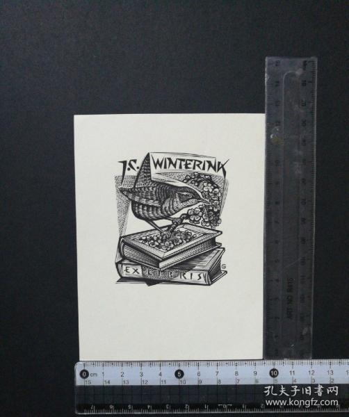 高登藏书票 鸟儿与书籍