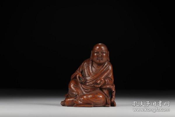 旧藏,竹雕罗汉坐像