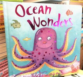 尾单纸板书 精装 ocean wonders 海洋奇观 抽啦书
