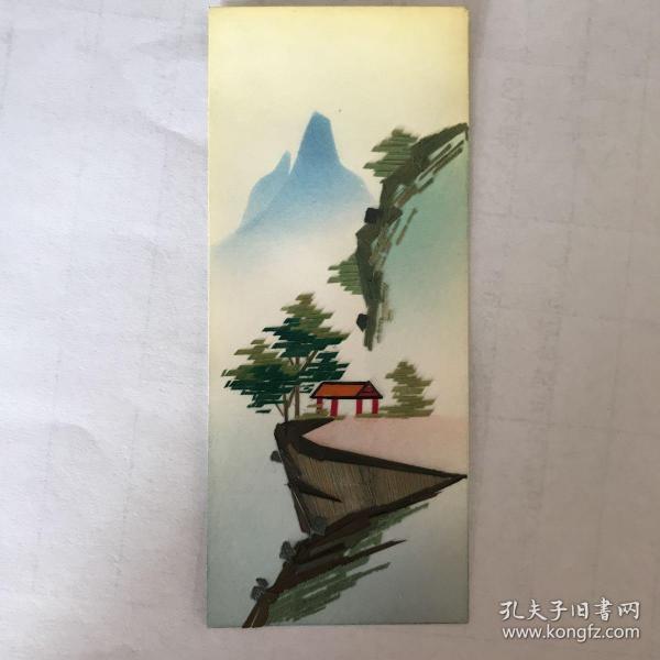 通草画书签(山水一套6枚)