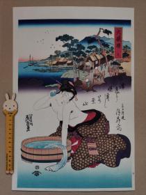 木版画 浮世绘 江户后期浮世绘三大家美人绘 溪斋英泉  悠々洞(悠悠洞) 大判