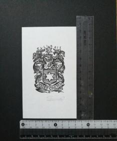 高登藏书票 欧洲纹章 有签名未使用,票面全新