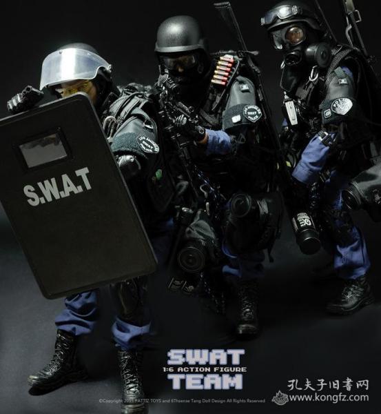 1/6兵人玩偶人偶模型娃娃手办SWAT小队全套3个
