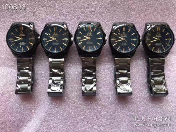 """几十年前的库存:男款""""欧米茄""""手表(机械表)5个,全品,都正常使用,细节如图"""