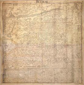 0108古地图1606坤舆全图 法国藏本。纸本大小115.93*117.95厘米。宣纸原色微喷印制