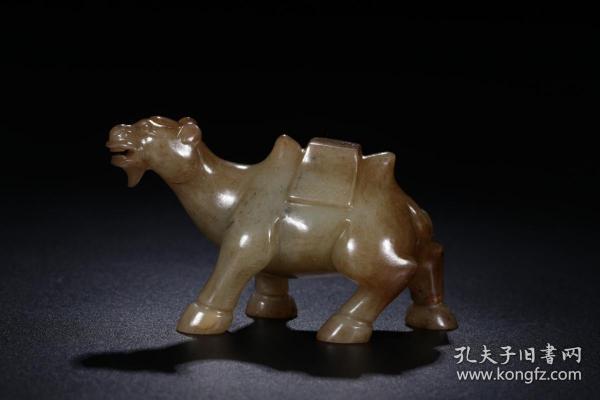 旧藏:和田青玉骆驼把件