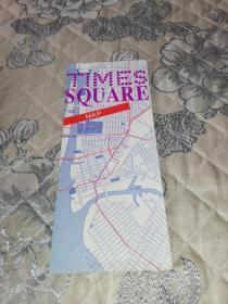 外国原版地图:TIMES SQUARE (时代广场地图,约20cm*60xm)