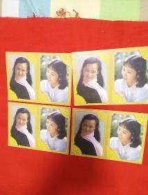 明星歌片,朱碧云,龚雪,两个人一版,四版合售,以图片为准